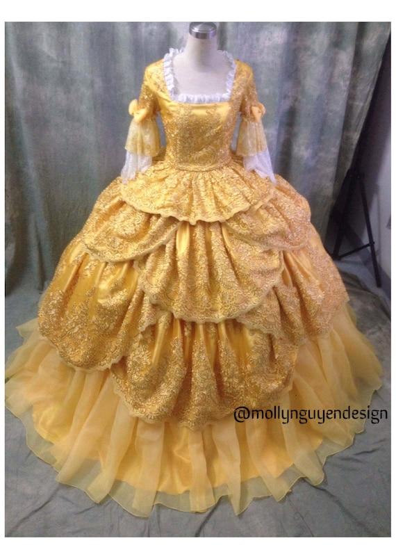 Beaute Et La Bete Adulte Costume Princesse Disney Belle Etsy