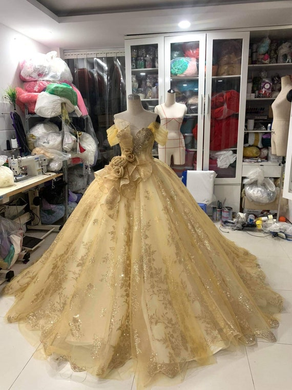 Wedding Dress inspired Belle, Belle Adult Dress, Belle Wedding Inspired,  Belle Yellow Dress, Belle Costume Ballgown,