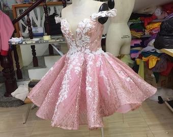 Cute Short Dress - Short Dress - Sparkly Dress - Tea Length Dress