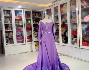 Purple Elsa Dress - Inspired Elsa Costume - Frozen 2 - Glitter painting Elsa costume - Glitter Painting Costume