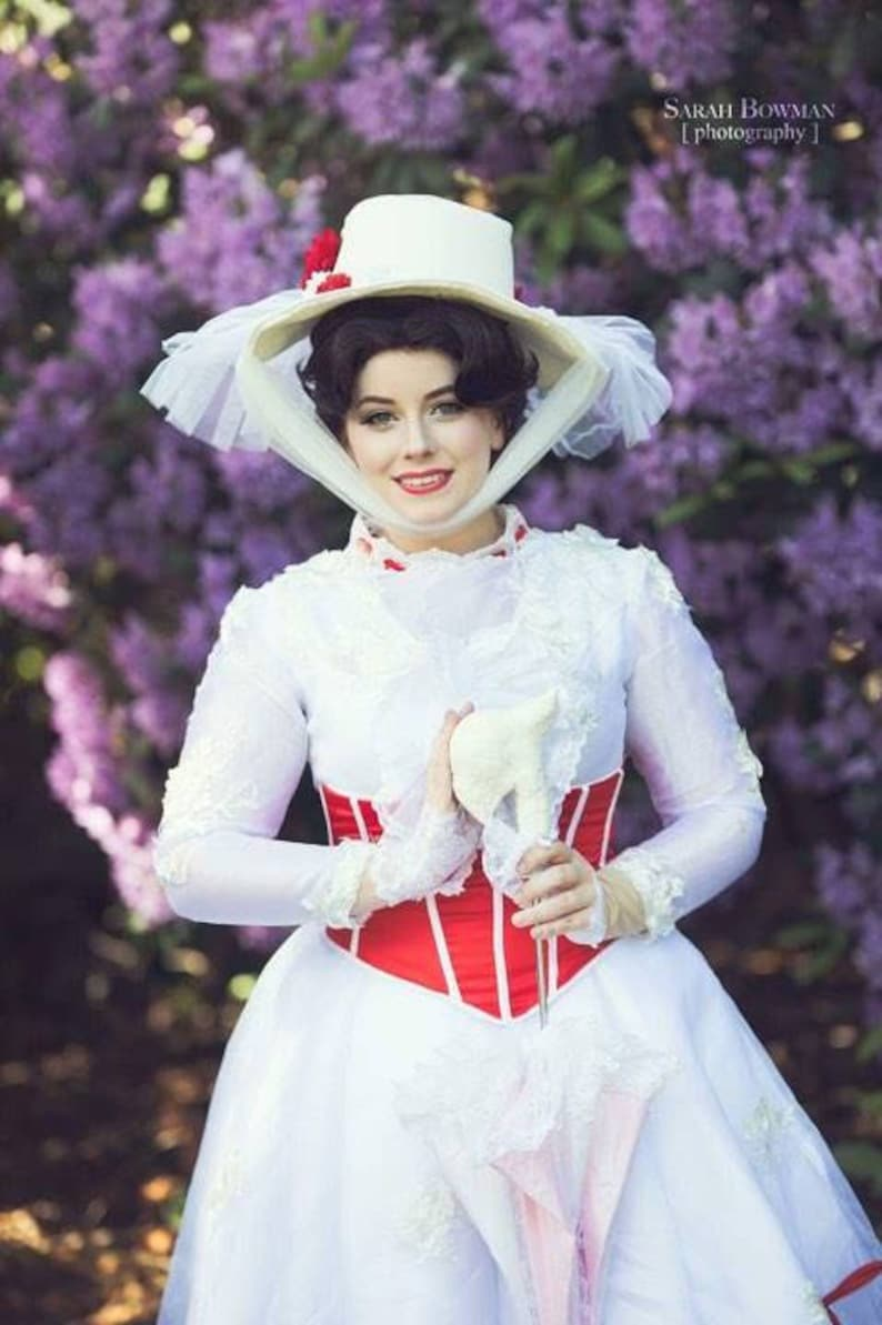 1900s, 1910s, WW1, Titanic Costumes Mary Poppins Cosplay Dress $380.00 AT vintagedancer.com