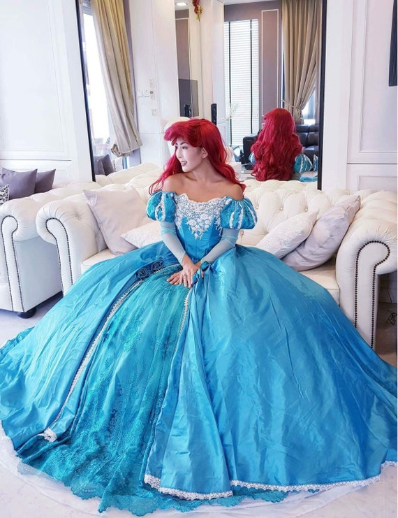 Blue Ariel Dress Little Mermaid Costume Ariel adult | Etsy