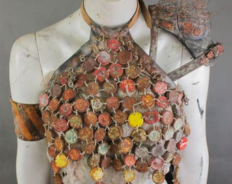 WaterWorld Full Costume - Post Apocalyptic Clothing - Burning Man Clothing Women - Professional Wasteland Weekend Costume - Movie Props