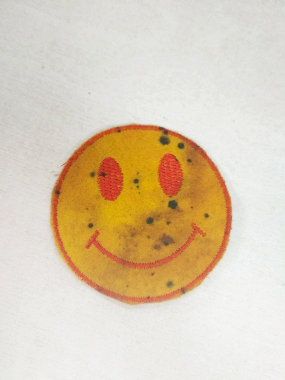 Watchmen Smiley Face Iron On Patch