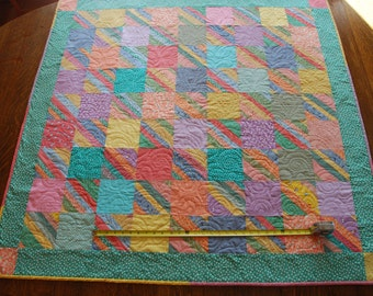 Scrappy 30s Print Baby Blanket or Tablecloth Quilt