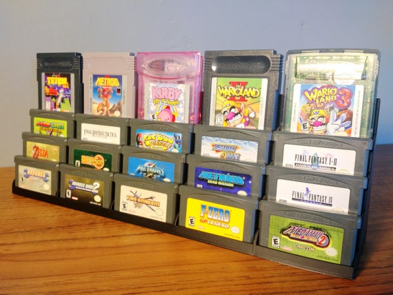 GBA Cartridge Display Tower - For Nintendo Gameboy Advance - Store and  Display Your GBA Game Collection!
