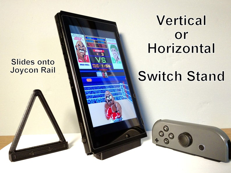 Switch Stand - Vertical or Horizontal Stand Joycon Rail Add-on for Nintendo  Switch