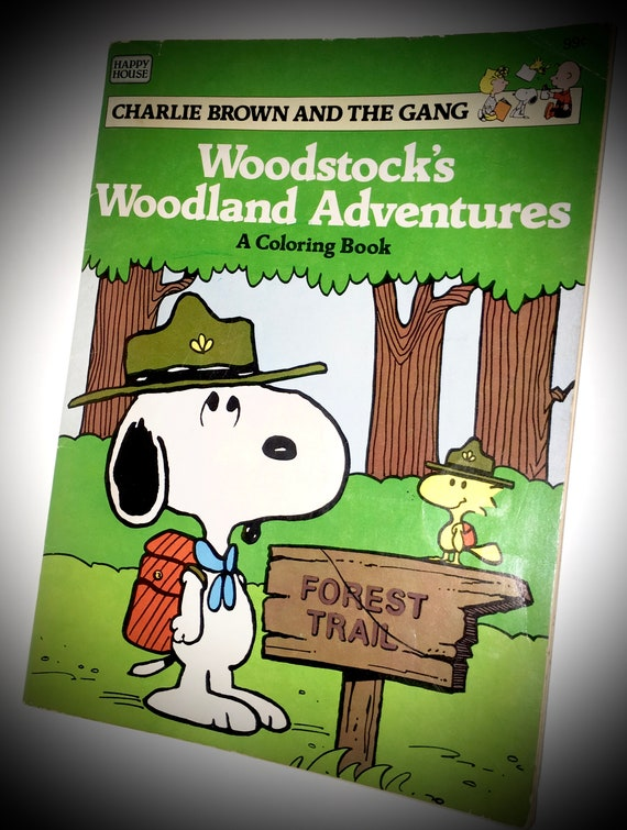 Woodstock S Woodland Adventures A Coloring Book Charlie Brown And The Gang Paperback Happy House 1984 Snoopy Coloring Book Activity Vintage