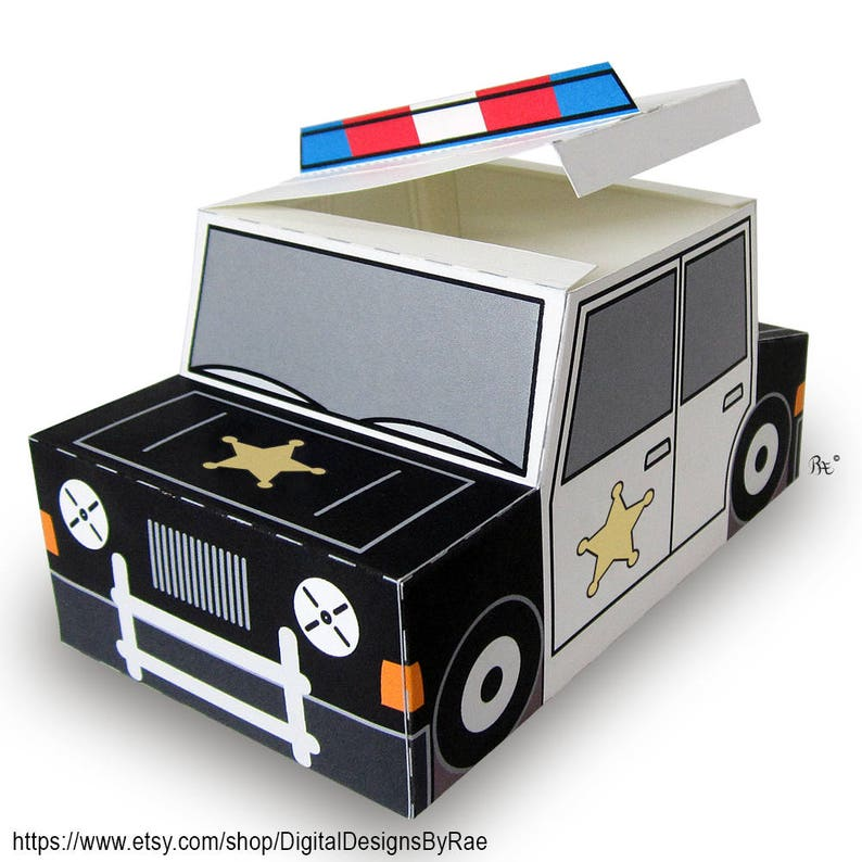 picture relating to Police Car Printable named Plucky Law enforcement Auto Reward Box printable want/handle box