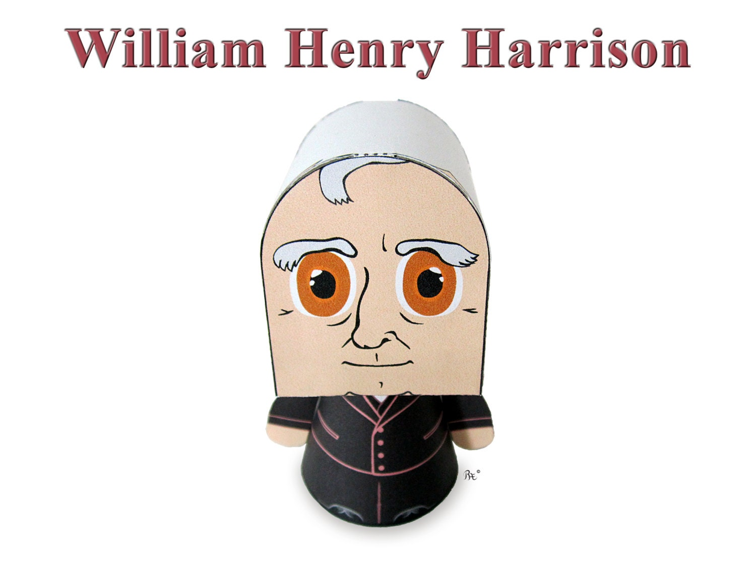 President William Henry Harrison Paper Toy Model W Movable