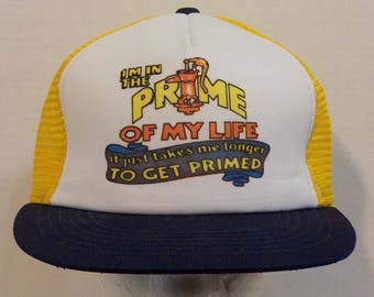 a659504d Prime Of My Life Funny LOL Vintage Snapback Baseball Truckers Dad Hat Mesh  Cap