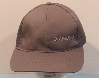 7498b38a0d8 Diamond We Do the Job Right Baseball Truckers Dad Hat Mesh Cap Strapback