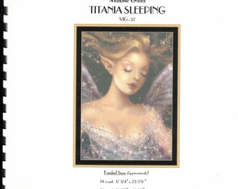 Titania Sleeping 1 Counted Cross Stitch Pattern By Mystic Stitch Inc