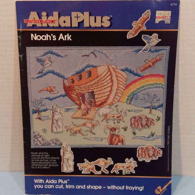 Noah/'s Ark Aida Plus Counted Cross Stitch 1 Pattern By Zweigart