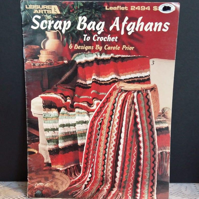 Scrap Bag Afghans 6 Patterns Knitting Instructions