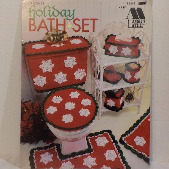 Urlaub Bad Set stricken häkeln Bad Matten 12 Muster Vintage | Etsy