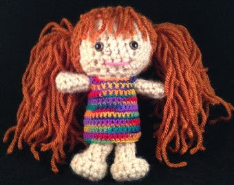 The Crochet Soireé: a whole family of little handmade people with heart. Individually crocheted to custom specifications