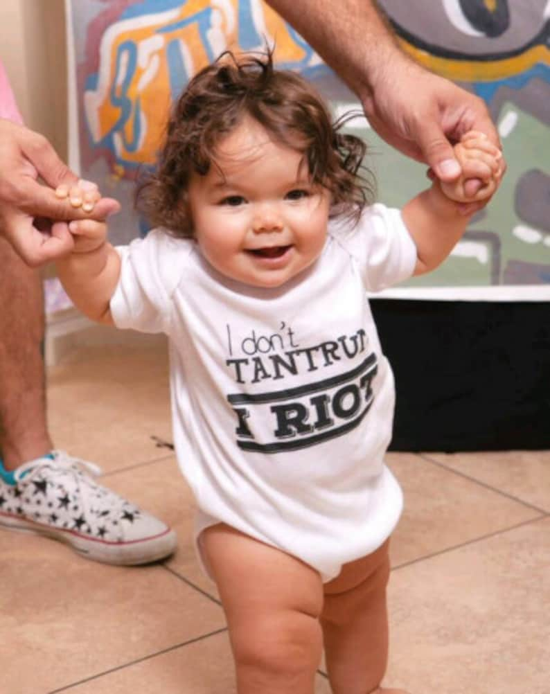 I Riot I Don/'t Tantrum protest shirt Feminist baby baby clothing Gender Equality Baby Bodysuit- Empowering toddler clothes