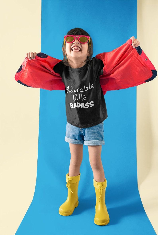 Kids/' Shirt Badass Baby Badass Tee Adorable Little Badass Adorable Shirt Graphic Tee Kids/' T-shirt Baby Bodysuit
