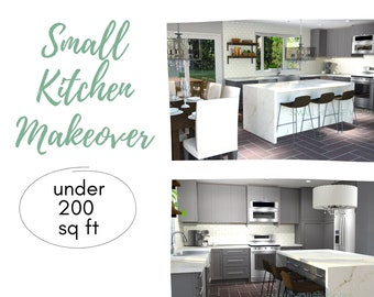 Small Kitchen Makeover. Virtual Design Services for your small kitchen!