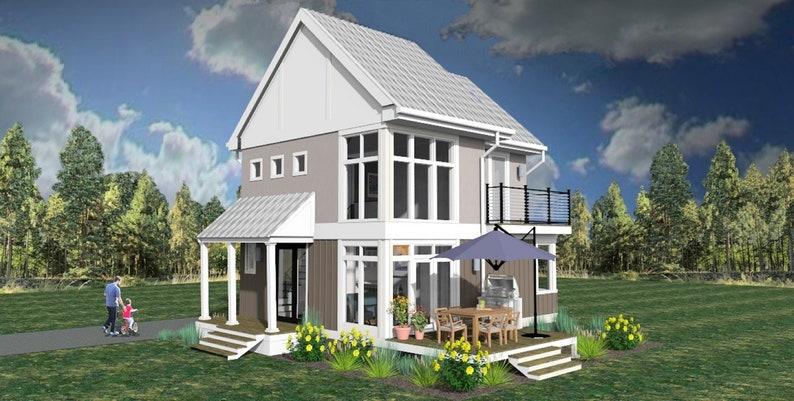 Moderne Bauernhaus Haus Plan. Teil 2 von 2 Bauplänen. 2 | Etsy