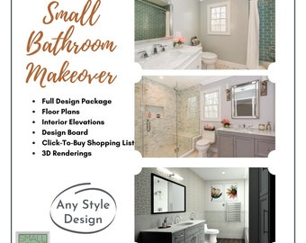 Small Bathroom Makeover. Affordable Design Services for your small bathroom!