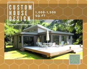 Custom Small House Design for homes between 1,000-1,500 sq ft. Virtual Small House Design affordable and designed just for you.