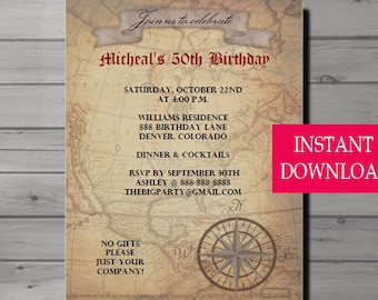 Game of thrones inspired dragon invitation dragon invitation 50th birthday invitation for men male birthday invitation adult birthday 50th birthday filmwisefo