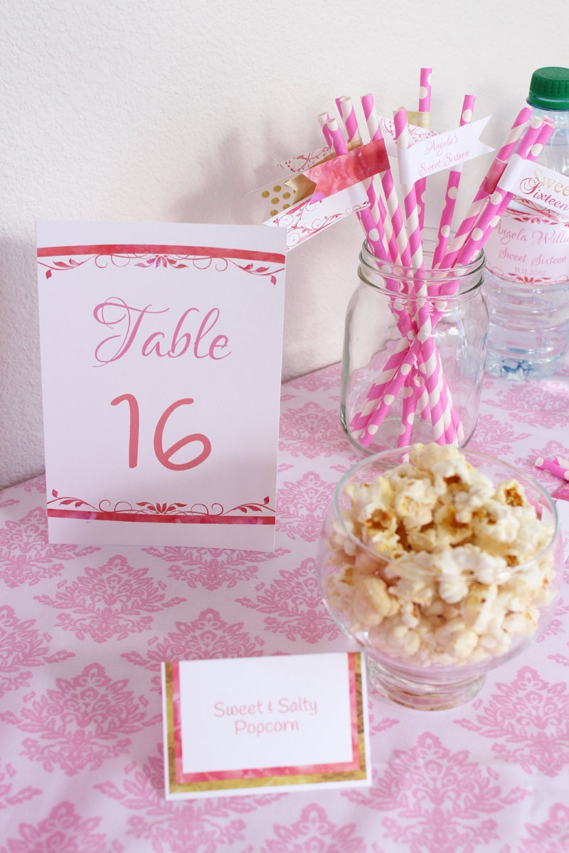 Table Number Card Table Card Table Number DIY Table Number | Etsy