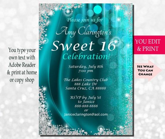 sweet sixteen invitation sweet sixteen party invitation sweet 16