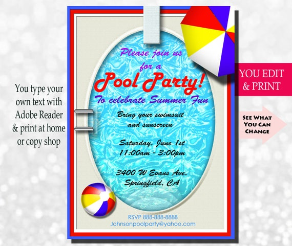 pool party invitation swimming pool party invitation summer party