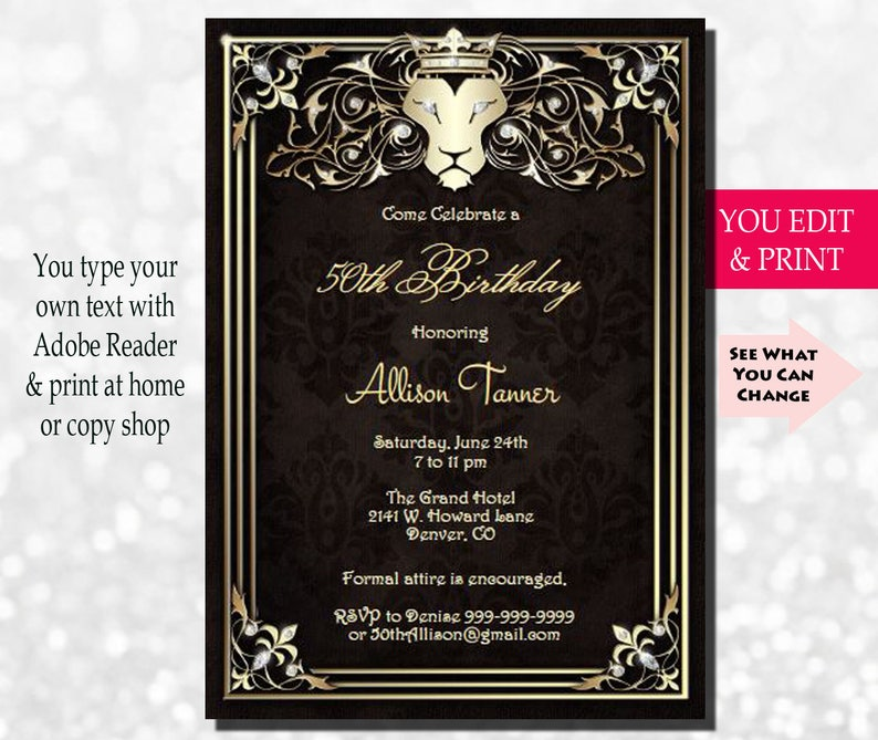 50th Birthday Invitation Party