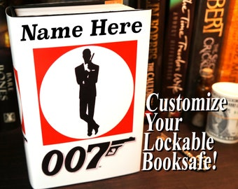 James Bond Book Safe Boyfriend Gift Birthday Brother For Teen Kids Personalized Boy Son
