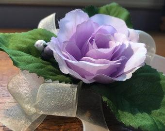 Purple Rose Wrist Corsage Prom Homecoming Wedding Bridesmaid Mother Of The Bride Wristlet Free Shipping Boho Bohemian