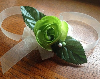 Simple Green Begonia Wrist Corsage Prom Homecoming Wedding Bridesmaid Mother Of The Bride Wristlet Free Shipping Boho Bohemian