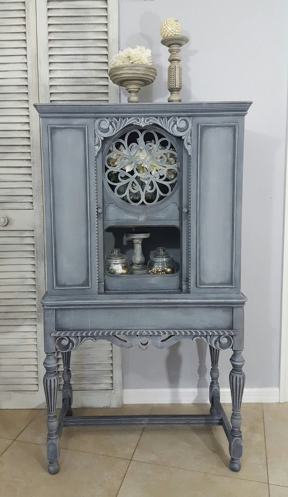 image 0 - SOLD Re-Purposed Antique Radio Cabinet Display Cabinet Etsy