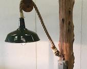 Cedar Driftwood Floor Lamp