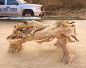 Ohio River driftwood over-sized foyer table
