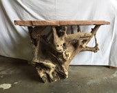 Driftwood Root Console Table