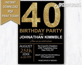 40th surprise birthday invitation 40th birthday invite etsy