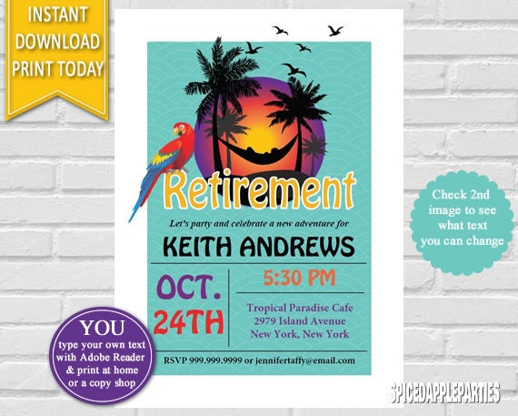 retirement party invitation retirement invite retirement printable