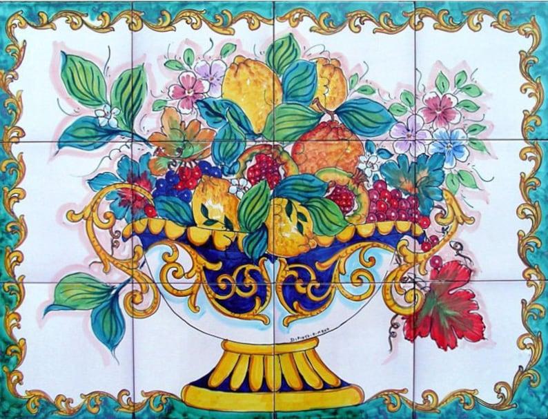 Incredible Decorative Kitchen Backsplash Tiles Hand Painted Tile Mural Fruit Bowl Painting Ceramic Bathroom Tiles Accent Wall Tiles Art Tiles Download Free Architecture Designs Xoliawazosbritishbridgeorg