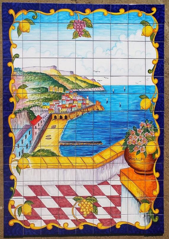 Amalfi Kuste Dekor Einzigartige Fliesen Italienisch Home Etsy