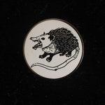 Possum/Opossum enamel pin black and white