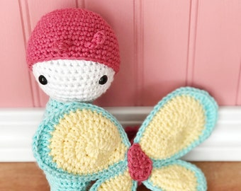Butterfly, amigurumi butterfly, crochet butterfly, spring butterfly, ready to ship, one of a kind,