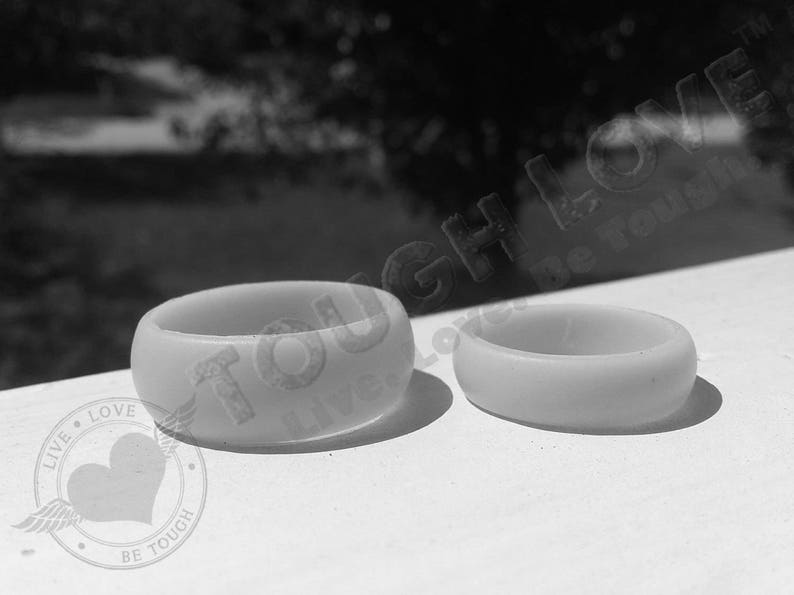 Thin band - Premium Silicone Wedding Rings Champagne SHIMMER TOUGH LOVE