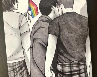 Pride TFW Postcard print
