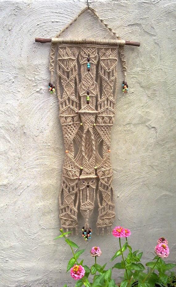 In der garten makramee wandbehang etsy - Makramee wandbehang ...