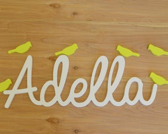 custom wood name cutout word cutout wood lettering name sign wall decor nursery decor baby name sign wooden shapes