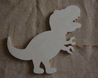 T Rex Shape Cut out, Wooden T Rex, Wooden Dinosaur Shape, Nursery, Boys Room Decor, T Rex Shape Cut Out, Baby Room Decor
